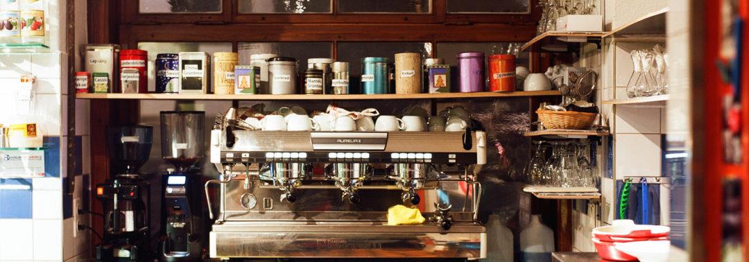 Der Kaffee- und The-Ecken im Café Zähringer, Zürich